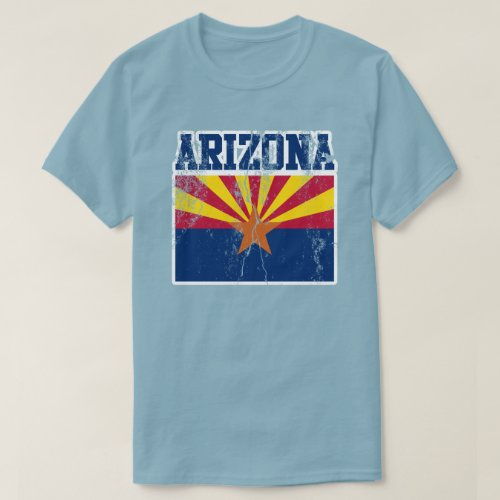 Arizona State Flag T_Shirt Distressed
