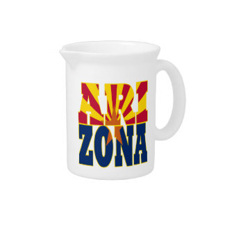 Arizona state flag text beverage pitchers