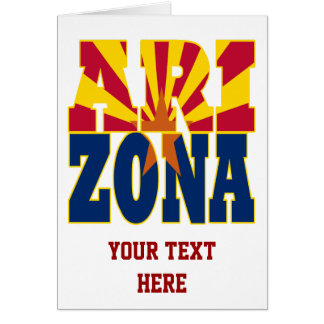 Arizona state flag text card