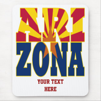 Arizona state flag text mouse pad