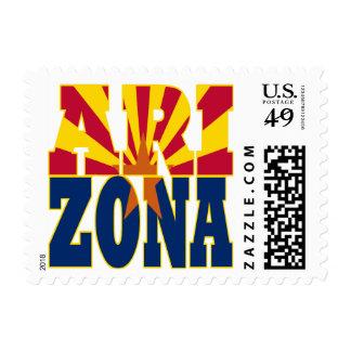 Arizona state flag text postage