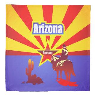 Arizona State Flag Themed Illustration Duvet Cover