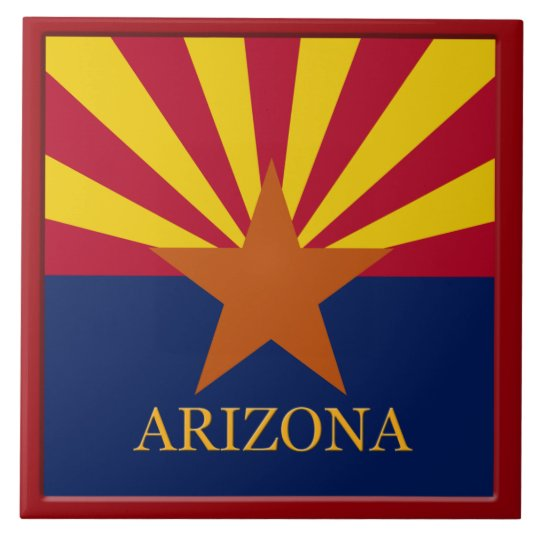 Arizona State Flag Tile