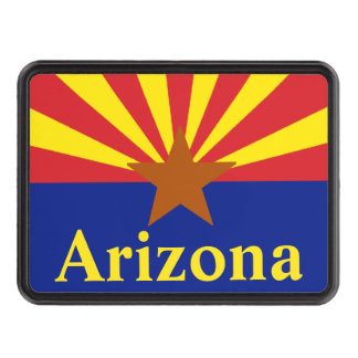 Arizona State Flag Trailer Hitch cover