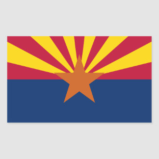 Arizona State Flag, United States. Navajo Nation Rectangular Sticker