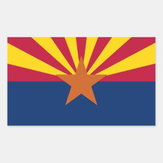 Arizona State Flag, United States. Navajo Nation Rectangular Sticker