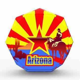 Arizona State Flag Vintage Drawing Award