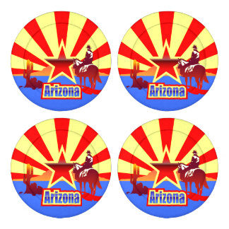 Arizona State Flag Vintage Drawing Pack Of Large Button Covers