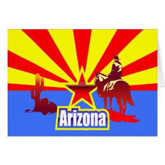 Arizona State Flag Vintage Drawing Card