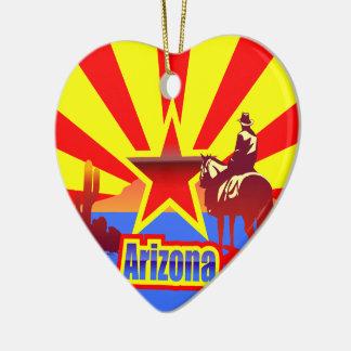 Arizona State Flag Vintage Drawing Ceramic Ornament