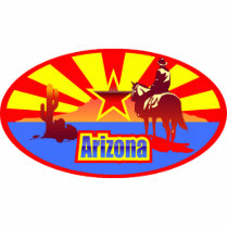 Arizona State Flag Vintage Drawing Cutout