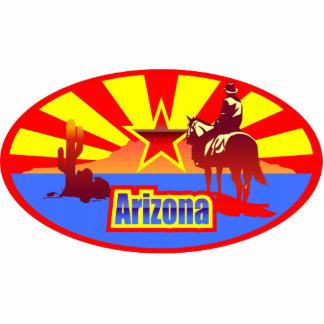Arizona State Flag Vintage Drawing Cutout