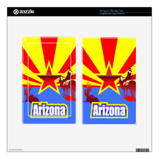 Arizona State Flag Vintage Drawing Decals For Kindle Fire