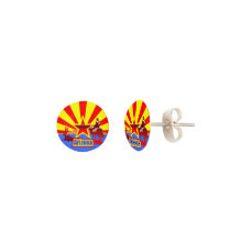 Arizona State Flag Vintage Drawing Earrings