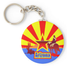 Arizona State Flag Vintage Drawing Keychain