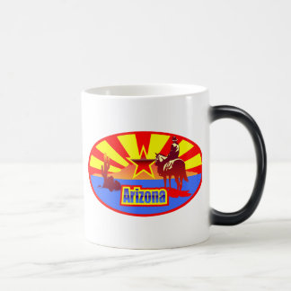 Arizona State Flag Vintage Drawing Magic Mug