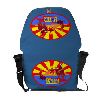 Arizona State Flag Vintage Drawing Courier Bags