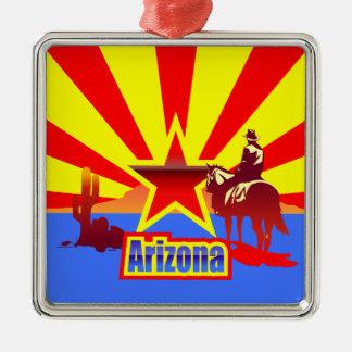 Arizona State Flag Vintage Drawing Metal Ornament
