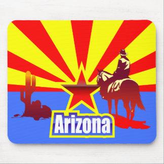 Arizona State Flag Vintage Drawing Mouse Pad