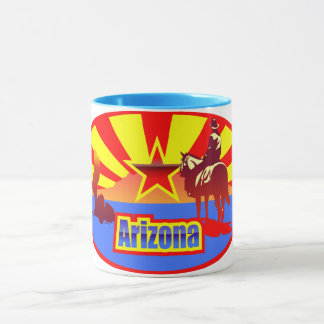 Arizona State Flag Vintage Drawing Mug