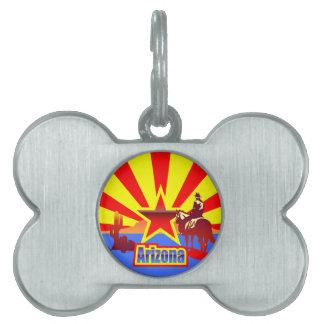 Arizona State Flag Vintage Drawing Pet ID Tag