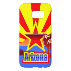Arizona State Flag Vintage Drawing Samsung Galaxy S7 Case