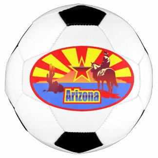 Arizona State Flag Vintage Drawing Soccer Ball