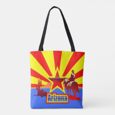 Arizona State Flag Vintage Drawing Tote Bag