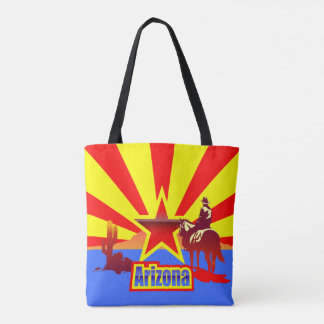 Arizona State Flag Vintage Drawing Tote Bag