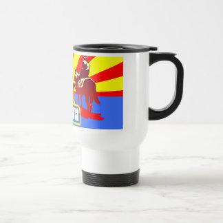Arizona State Flag Vintage Drawing Travel Mug