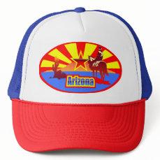 Arizona State Flag Vintage Drawing Trucker Hat