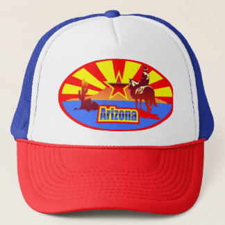 Arizona State Flag Vintage Drawing Trucker Hat