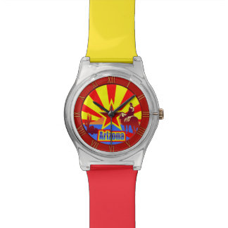 Arizona State Flag Vintage Drawing Watches
