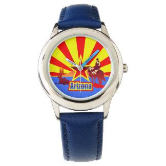Arizona State Flag Vintage Drawing Wristwatches