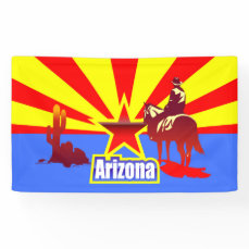 Arizona State Flag Vintage Illustration Banner