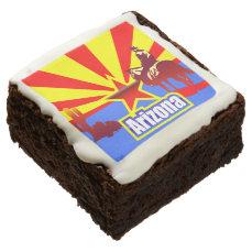 Arizona State Flag Vintage Illustration Brownie