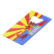 Arizona State Flag Vintage Illustration Credit Card Bottle Opener
