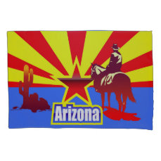 Arizona State Flag Vintage Illustration Pillow Case