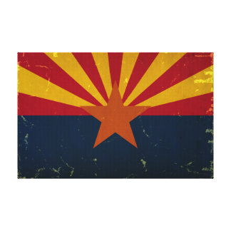 Arizona State Flag VINTAGE.png Canvas Print