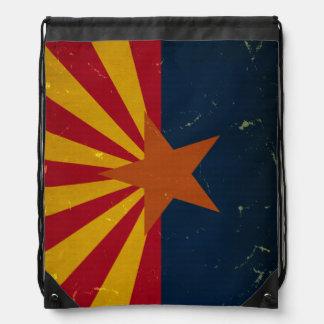 Arizona State Flag VINTAGE.png Drawstring Bag
