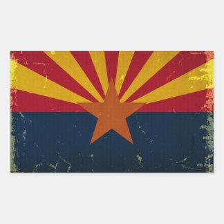 Arizona State Flag VINTAGE.png Rectangular Sticker