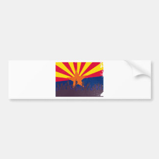 Arizona State Flag with Audience Bumper Sticker