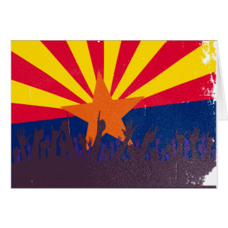 Arizona State Flag with Audience Card
