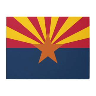 Arizona State Flag Wood Wall Art
