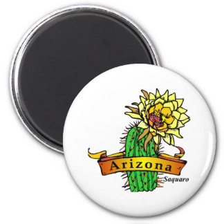 Arizona State Flower - Saguaro Magnet