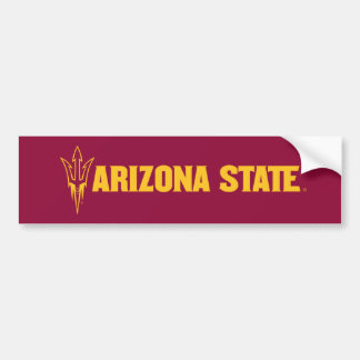 Arizona State Fork Bumper Sticker