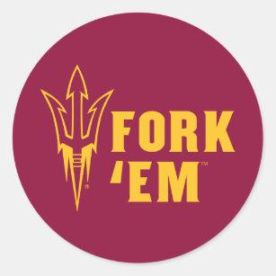 Arizona State Fork 'Em Classic Round Sticker