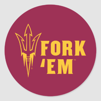 Arizona State Fork 'Em Classic Round Sticker