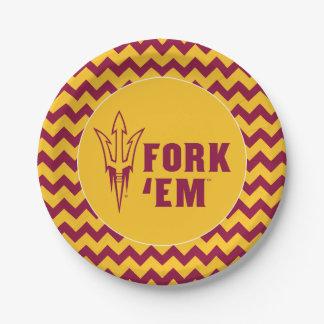 Arizona State Fork 'Em Paper Plate