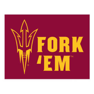 Arizona State Fork 'Em Postcard